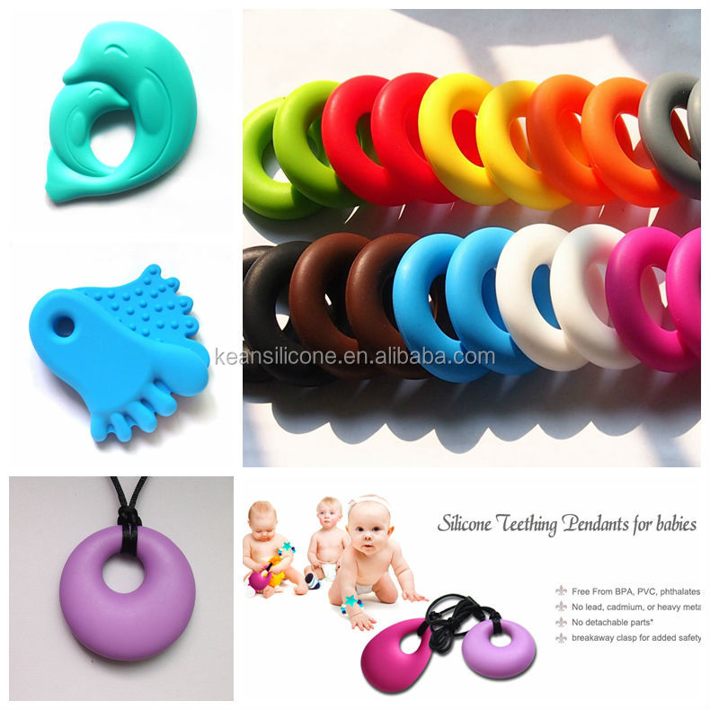 Large Pendants for Jewelry Making/ Love Doughnut Pendant Necklace for Baby Chewing