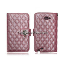 Fashion lady PU leather cover case for Samsung note II i9220