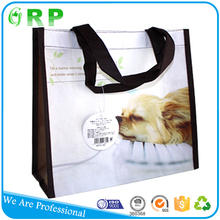 Factory price standard size folding reusable vinyl tote shopping bag