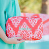 Wholesale Handmade Coral Cove Monogram Cosmetic Bag