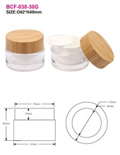 BCF-038-30g manufacturer Chinese oriental low carbon bamboo cream jar
