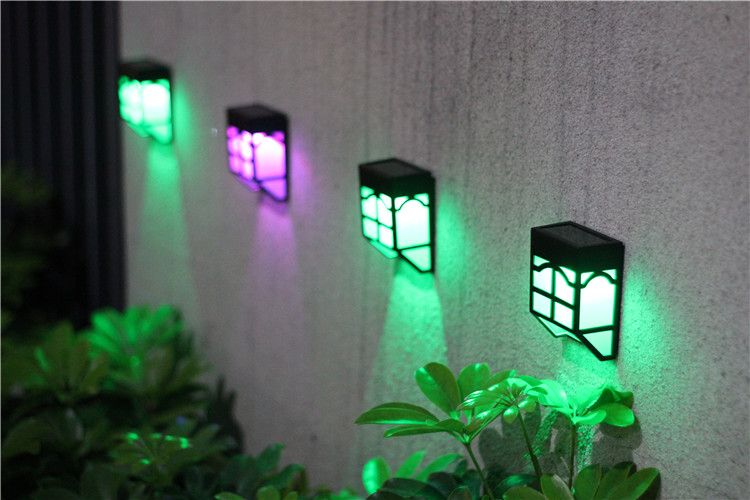 solar powered garden lam Waterproof Solar Powered LED Wall Light for Outdoor Landscape Garden Yard Lawn Fence Deck Roof Lighting