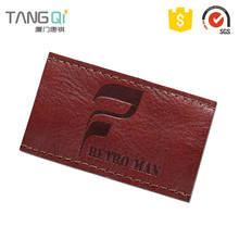 Custom Size jeans pu leather patches making factory patch labels