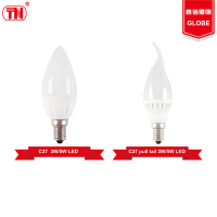 New type c37 led light bulbs 3w 5w e27 Plastic Aluminum led candle lamp