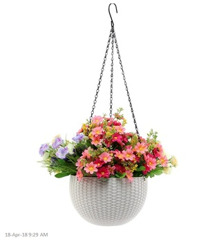 Plastic Hanging Basket Flower Planter Pot