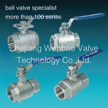 Two Pieces stainless steel ball valve /threaded 2pc ball valves /chemical resistant ball valve importers