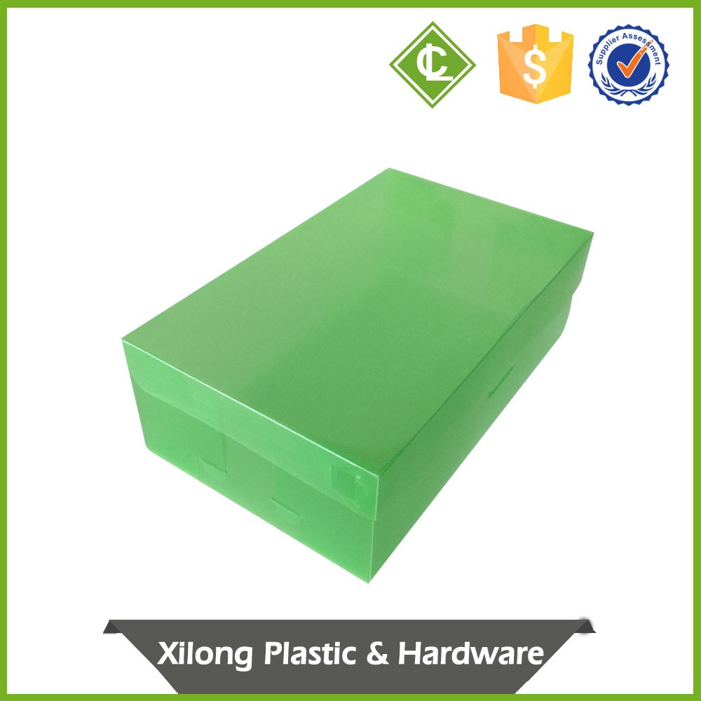 Oem Production Automatic-Lock Bottom Clear Hard Plastic Shoe Box