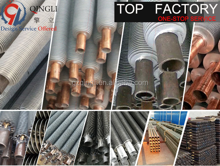 Stainless Steel Spiral Fin Copper Tube Cooling Pipe for Heat Exchanger