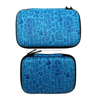 "2.5"" Blue Small Compact Protective EVA Case Bag Pouch for USB External Portable Hard Drive Pocket Carrying Memory Card Hard Disk"