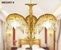 hotel decoration brass chandelier project lighting with crystal