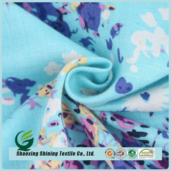high quality woven printed 100 rayon fabric for dress