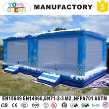 2017 New product inflatable snow theme ball pool pit for kids play houses