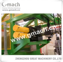 Plastic PET sheet extruder with double piston type continuous screen changer