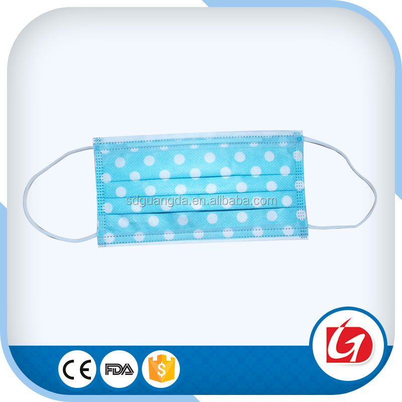 Disposable Design Print Printed Earloop Dust Protective Face Mask