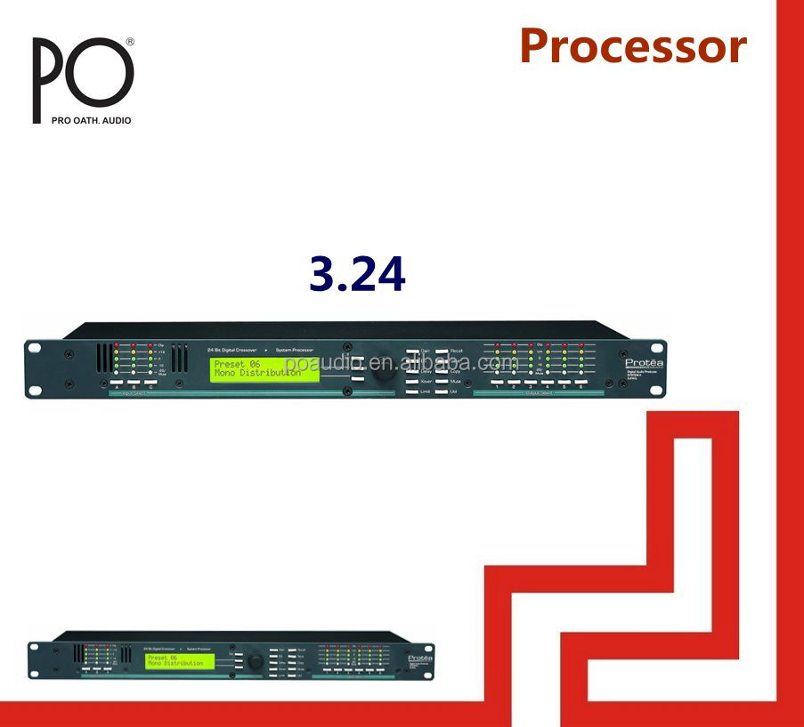 audio processor dsp 3.24 ashly processor