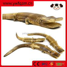 animal wood carving crafts decoration wooden crocodile