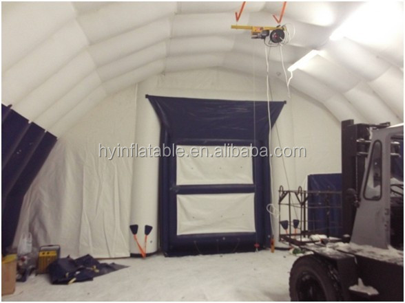 2016 Hot sale giant inflatable winter warehouse, inflatable winter building