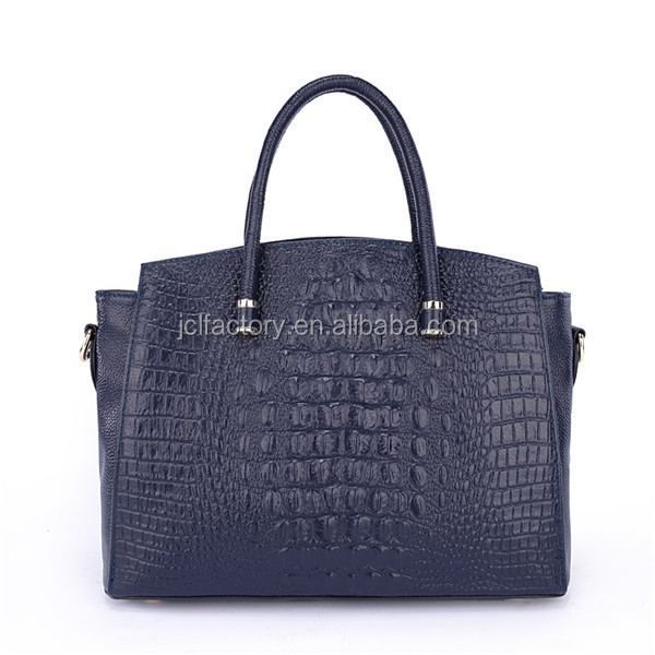elegant blue color genuine leather designer handbags for less