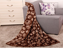 100%polyester cute printed pet blankets wholesale