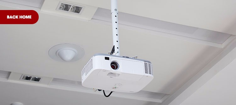 360 degrees swivel motorized projector ceiling wall mount for Motorized retractable projector screen