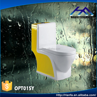 Chaozhou Ceramic Sanitaryware One Piece Toilet Yellow Toilets