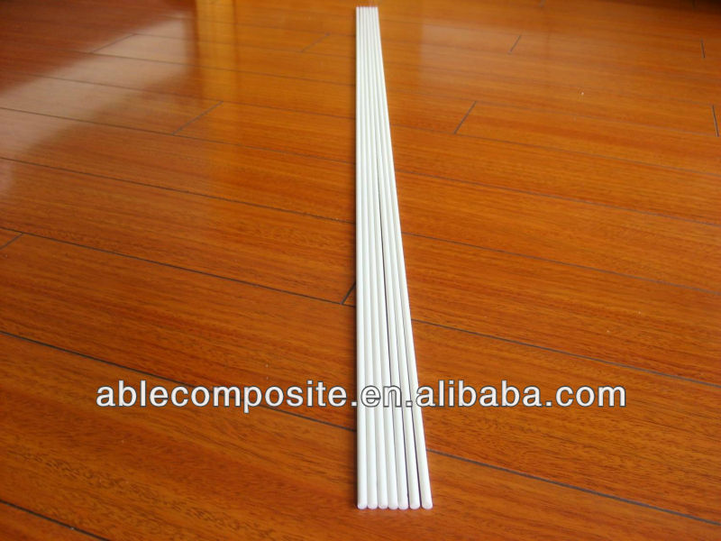 Round 4mm white durable glass fiber Roman shade ribs