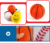 Wholesale 6 kinds sport set safety 3.5 inch soft pu stress ball for kids playing