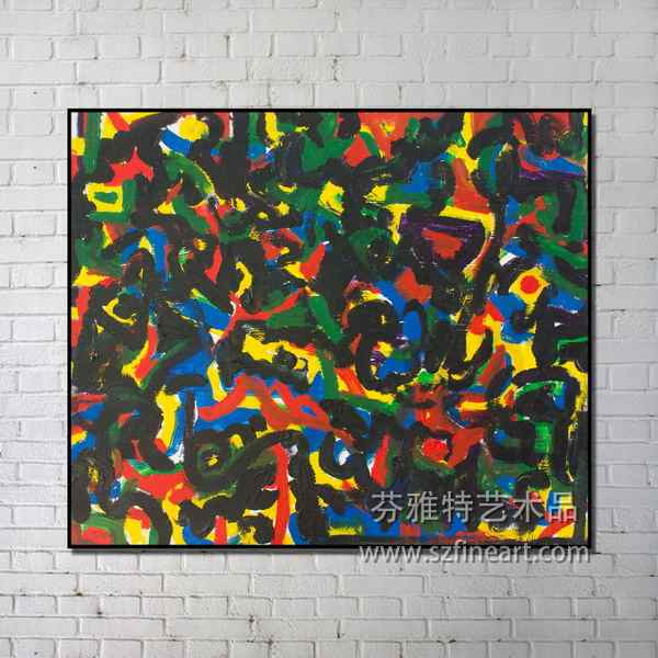 Home interior wall decoration hand-painted abstract art oil painting