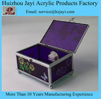 Wholesale Acrylic Silver Plated Jewelry Box