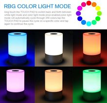 Bedside Touch Sensor Table Lamp, Dimmable Warm White Light and RGB Color Changing Smart Atmosphere Lamp