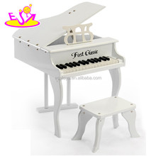 Hot sale high quality wooden toy used piano for baby, new and popular used piano for kids W07C015