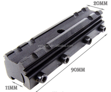 11mm-20mm for Dovetail Weaver Picatinny Rail Base Scope Mount Converter for Hunting Gun Accessories
