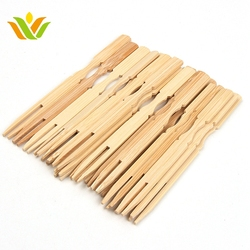 Party Event Creative bamboo Pick Dessert Disposable Fruit Forks