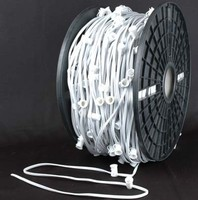 LED String Lights C7/C9 1000' Spool Green Wire 12