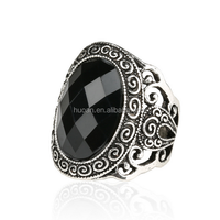 Retro style ring Carved design hot sale Diamond cut rings for women