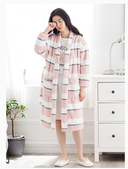 Soft Women or Men sleepwear coral fleece fringe printed pajamas with waistband
