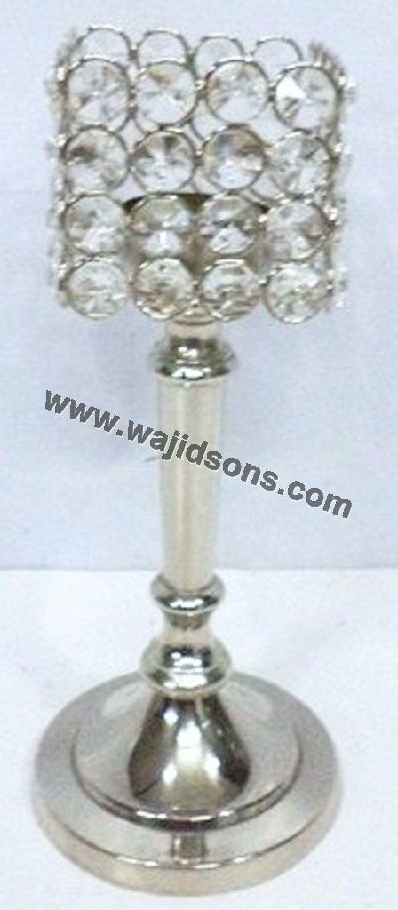 Candle Holders Silver crystal candle stands Sale