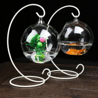 Beautiful round shape hanging glass vase