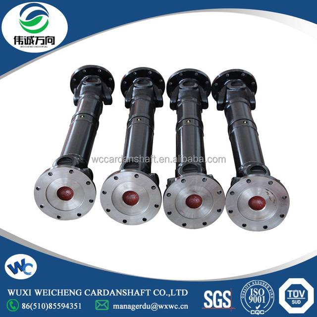 Custom Design universal drive shaft with bolt hole connection for sale