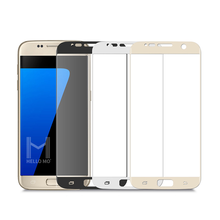 High quality and fast delivery supplier HD clear 3D round angle 0.2mm mobile tempered glass screen protector for Samsung S7