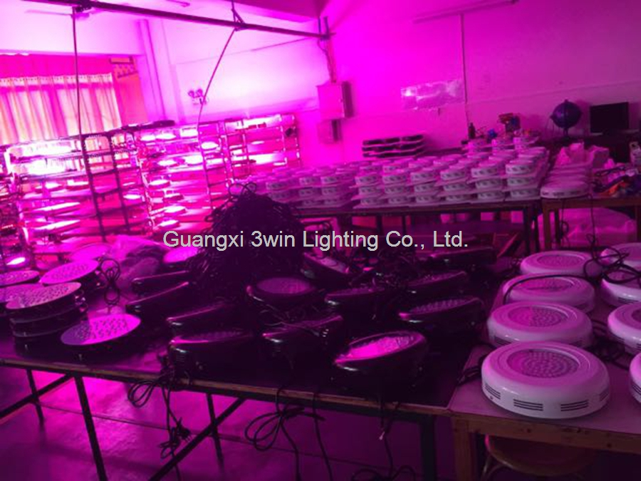 135w UFO led grow light 45x3watt led chip full spectrum ratio customized CE RoHS&FCC for hydroponics& greenhouse