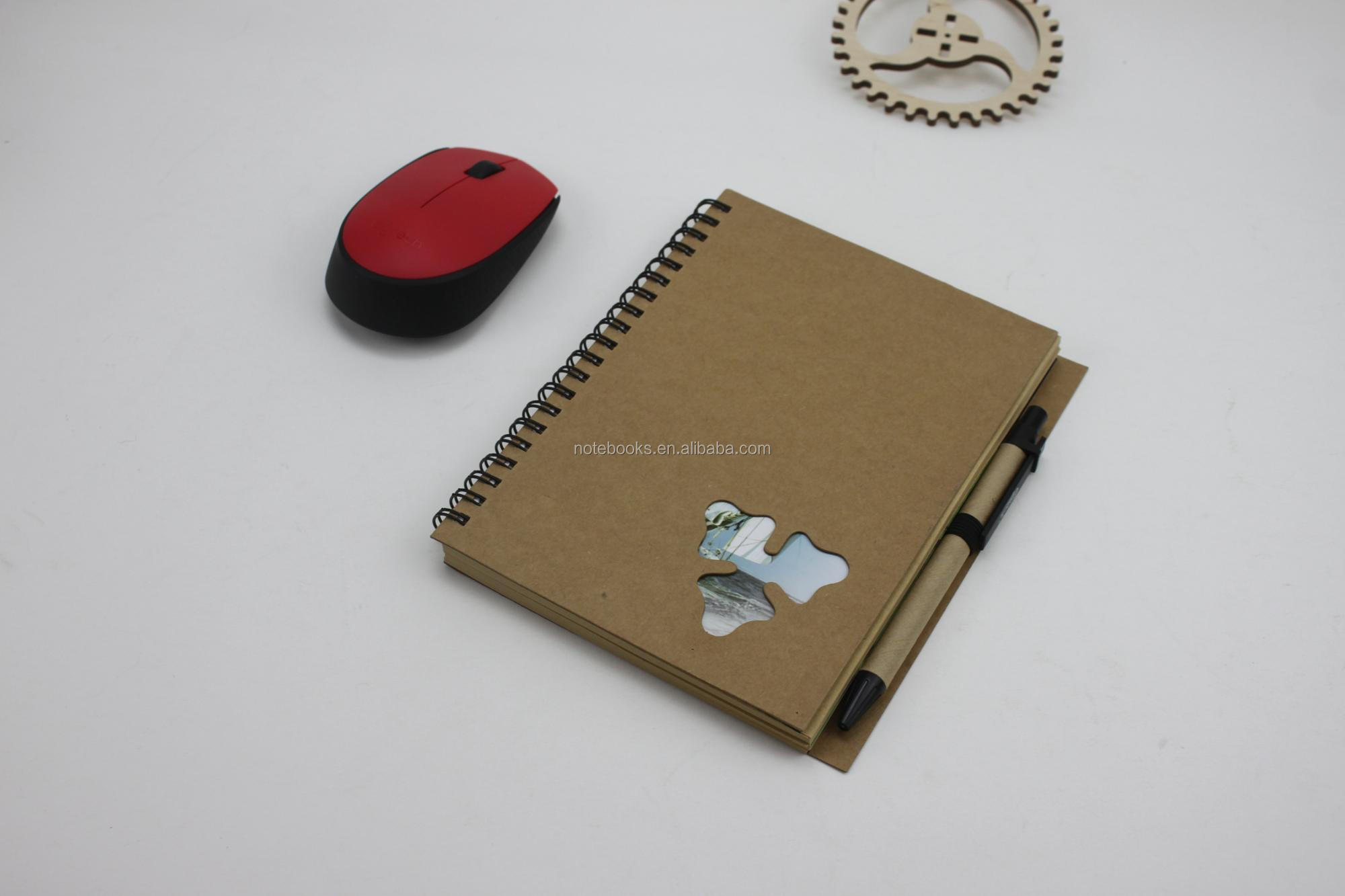 High quality cheap price office kraft notebook