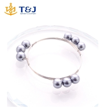 >>>Wholesale Yiwu Market iron wire crystal easy bangle with imitation pearl for woman