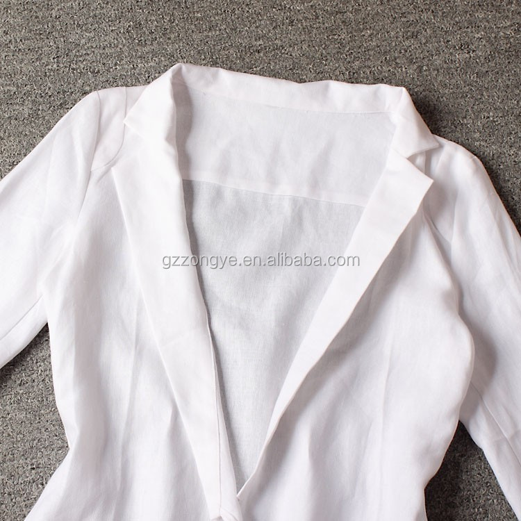 High quality ladies fashion clothing white women short coat