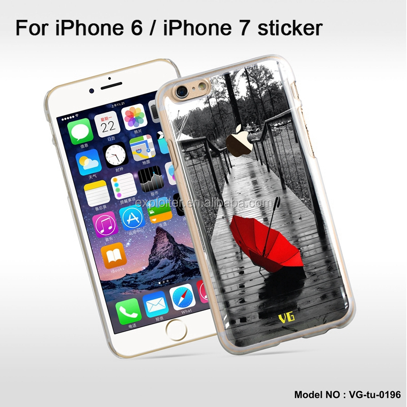 Best selling make your own mobile phone sticker for iphone 7 plus skin sticker