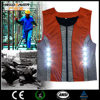 Reflective LED working tool vest