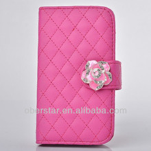 New Lambskin Leather High-grade Stent Camellia Mobile Phones Cases For Samsung Galaxy Note3 N9000