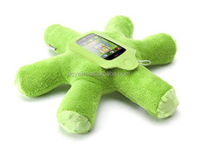 mini woogie plush toy integrated speaker case for iphone and ipod touch