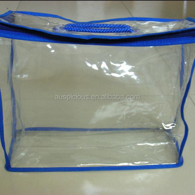 fashion transparent dust proof plastic blanket bag for bedding packaging