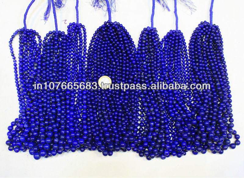 Blue Lapis A+ grade Smooth Round Ball Beads
